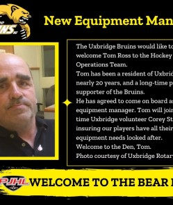 Bruins add new Equipment Manager